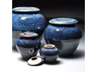 Blue Galaxy Cremation Urns Luciapottery