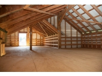This hay loft: holds up to 600 sq. bales We have 3 more hay lofts+ the hay room in FFHC