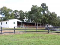 View of barn from paddock