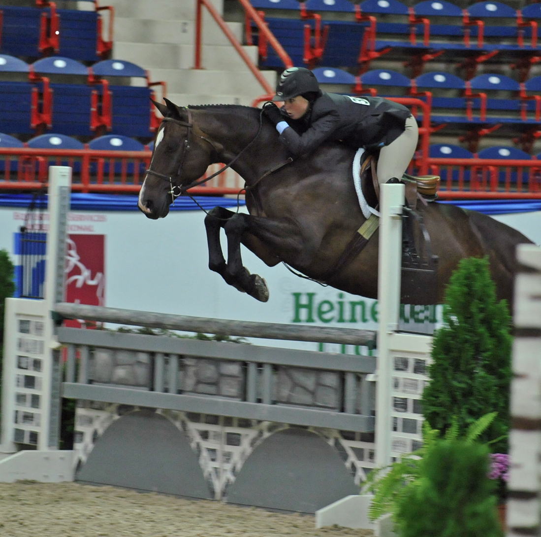 Rachael Herkowitz will celebrate finishing her clinical psychology residency by competing Brooke at USHJA International Hunter Derby Finals.