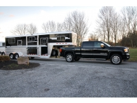 Frank DiBella_New Black 4-Star 2+1 Horse Trailer GMC Denali 2500 Truck