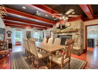 Dining Area with Exposed Beams