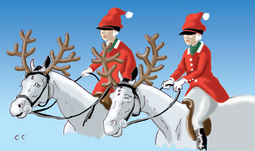 Christmas Horse Cartoon.The Chronicle Of The Horse